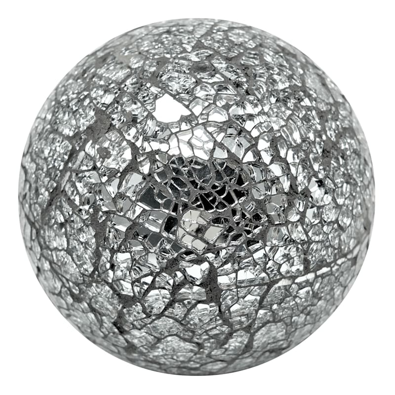 4in. Crushed Mirror Mosaic Orb