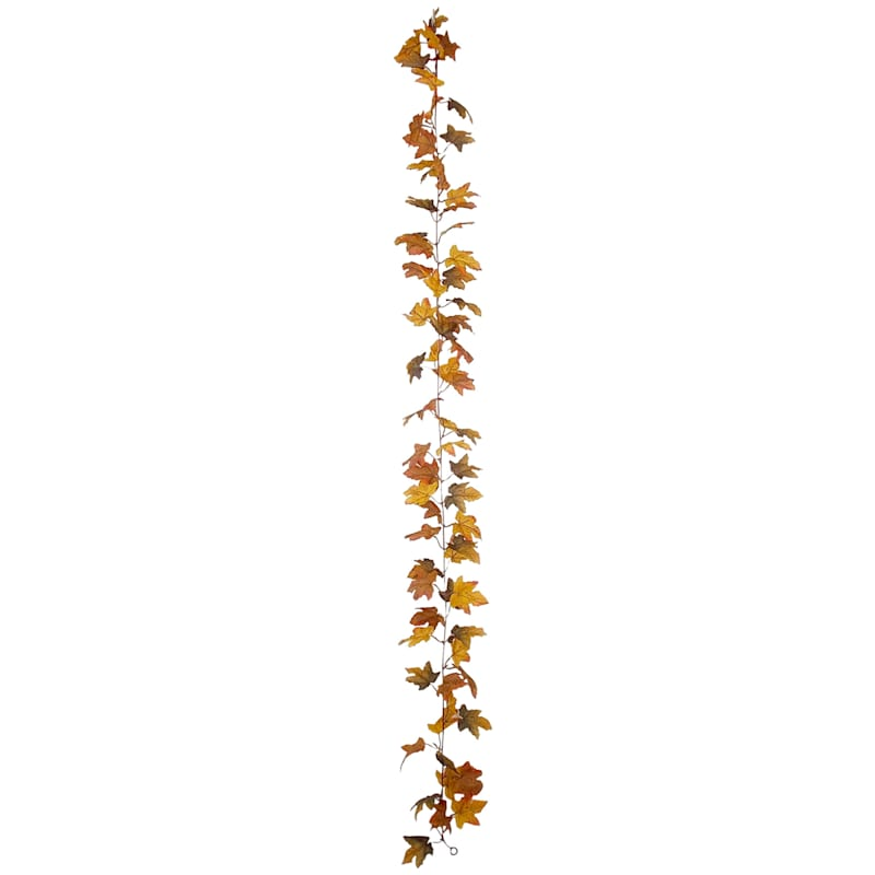 Brown Leaves Garland, 6'