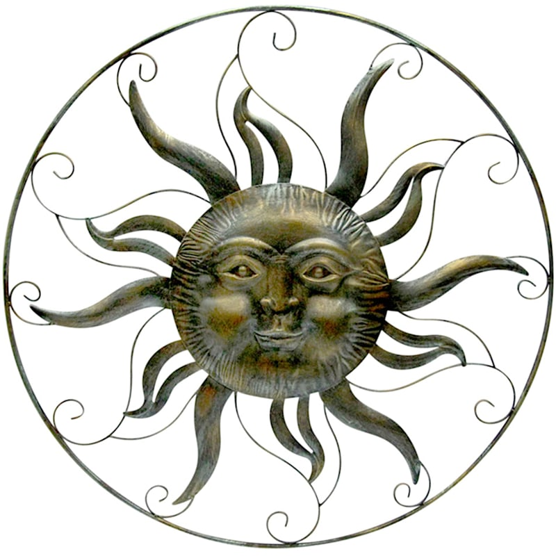 Metal Round Wall D�cor/Sunface