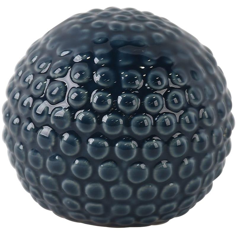 3.7in. Ceramic Dark Blue Sphere