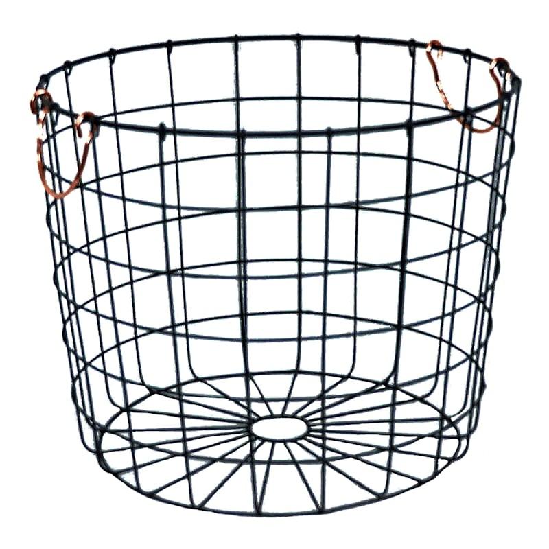 Round Wire Basket Bronze At Home, Large Round Wire Basket