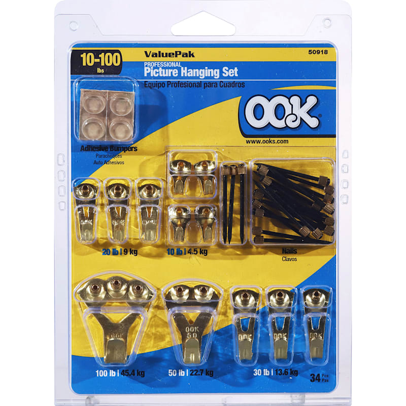 10 to 100 lb Professional Picture Hanging Set