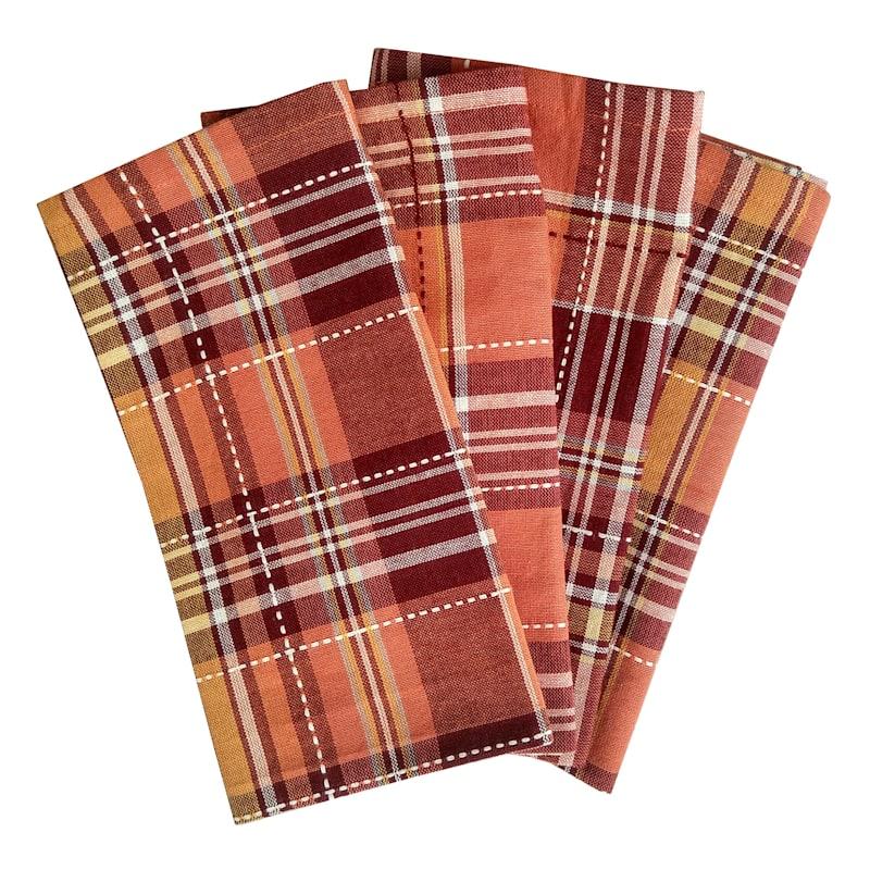 Set of 4 Plaid Yarn Dyed Napkins