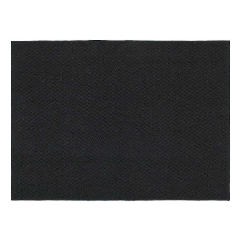 (D134) Town Square Scatter Rug Black, 2x4