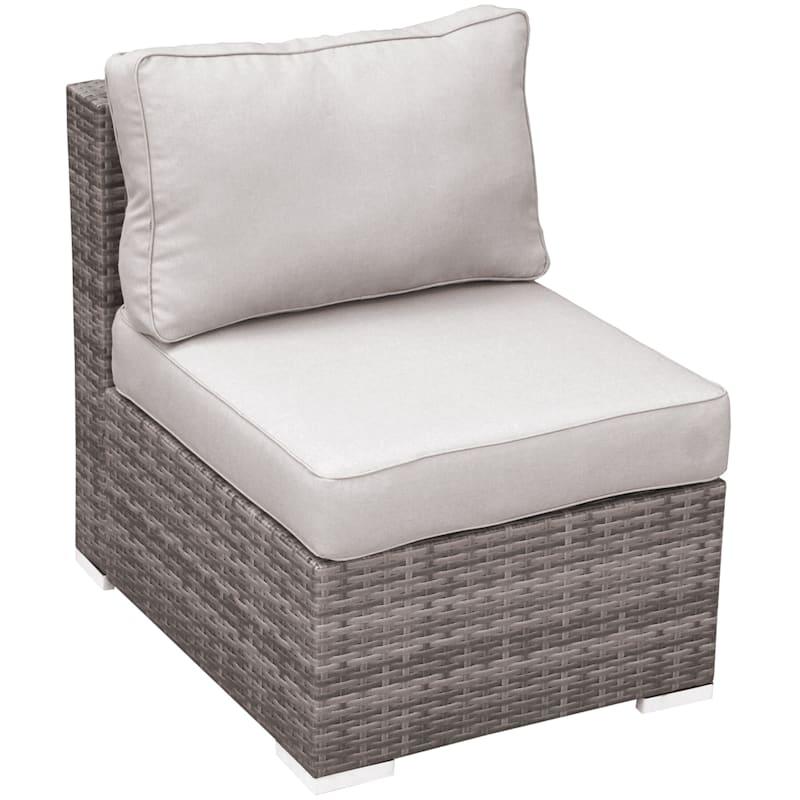 Weston II Armless Wicker Chair & Cushion