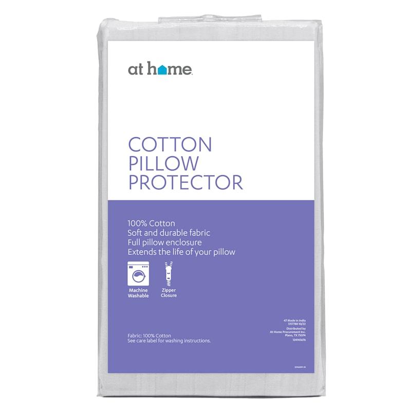 Cotton Pillow Protector Standard/Queen 20X28