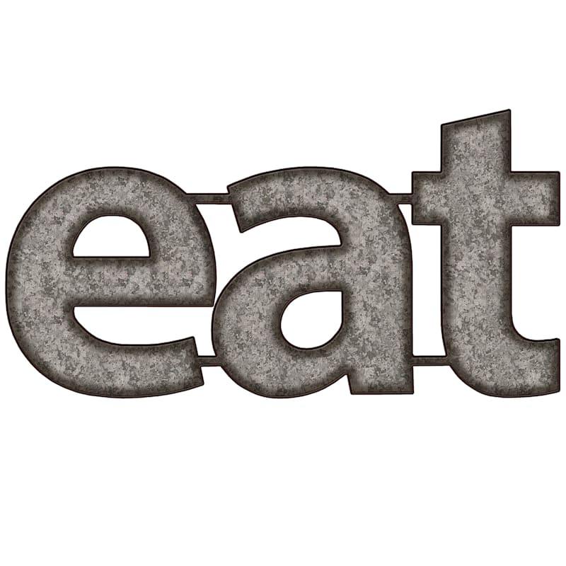 10X20 Eat Galvanized Metal Word Wall Decor