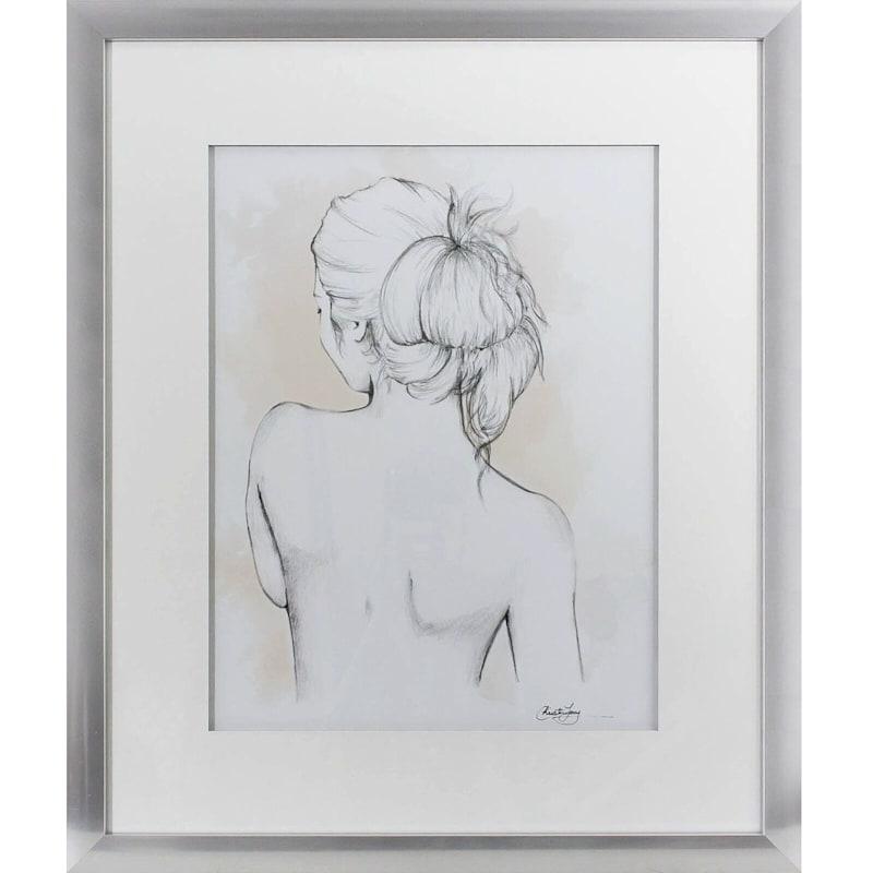 20X24 Blushing Girl Framed Matted Art Under Glass