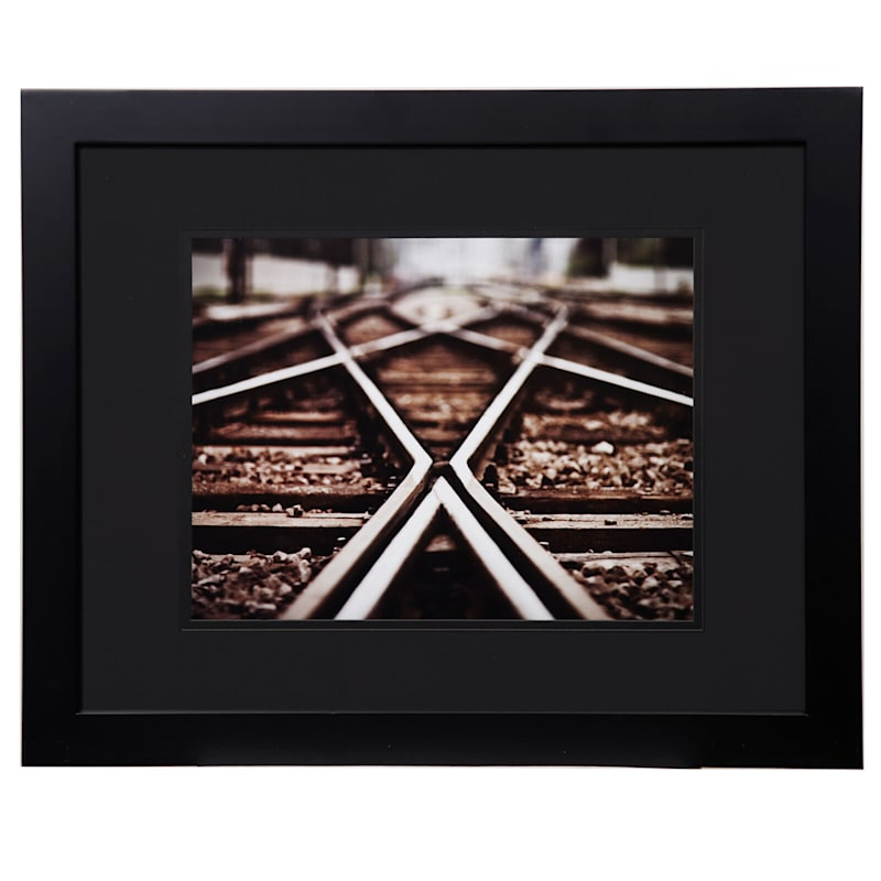 Pick And Mix 16X20 Matted To 11X14 Black Mat Linear Photo Frame