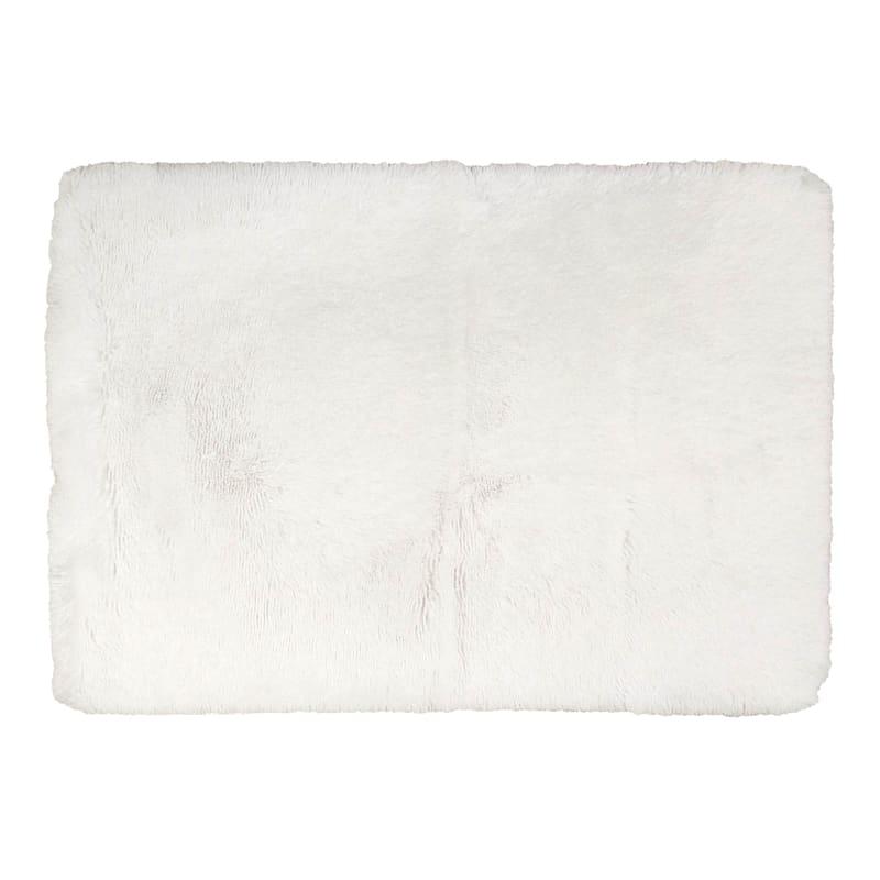 Faux Fur White Accent Rug, 2x4