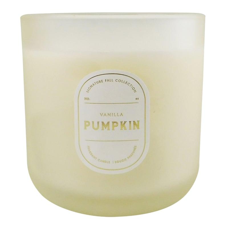 2-Wick Vanilla Pumpkin Glass Candle, 12.5oz