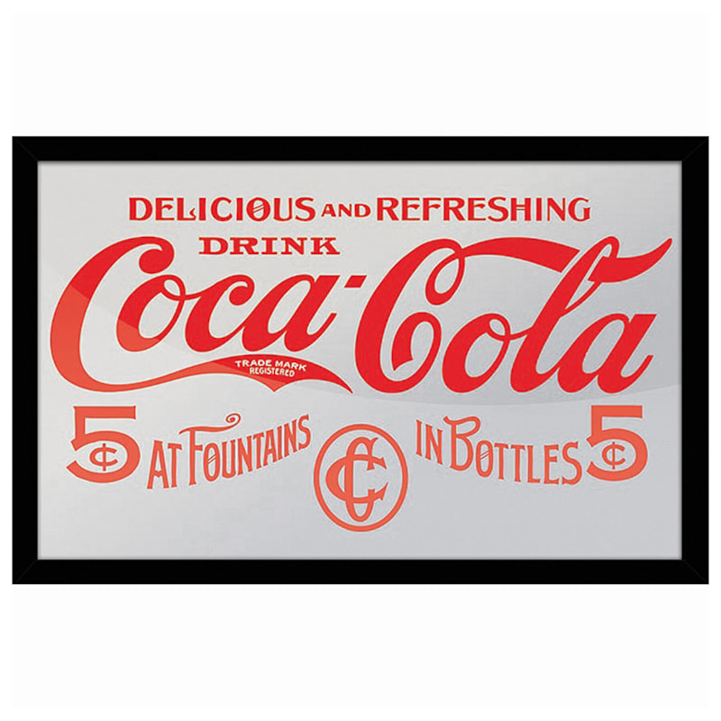 15x10 Coca Cola Delicious And Refresh Framed Printed Mirror