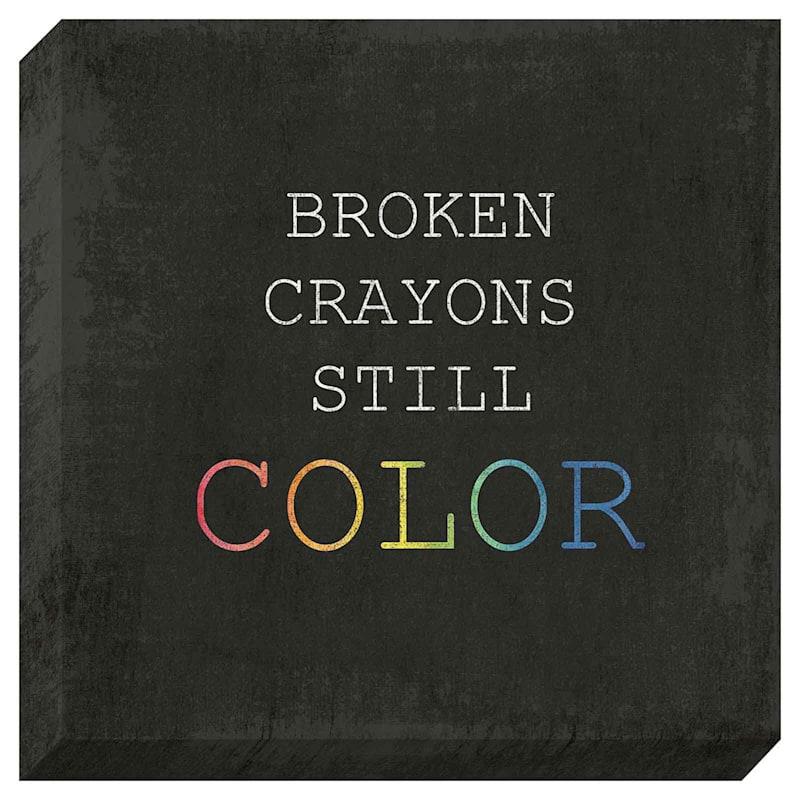 14X14 Broken Crayons Textured Canvas