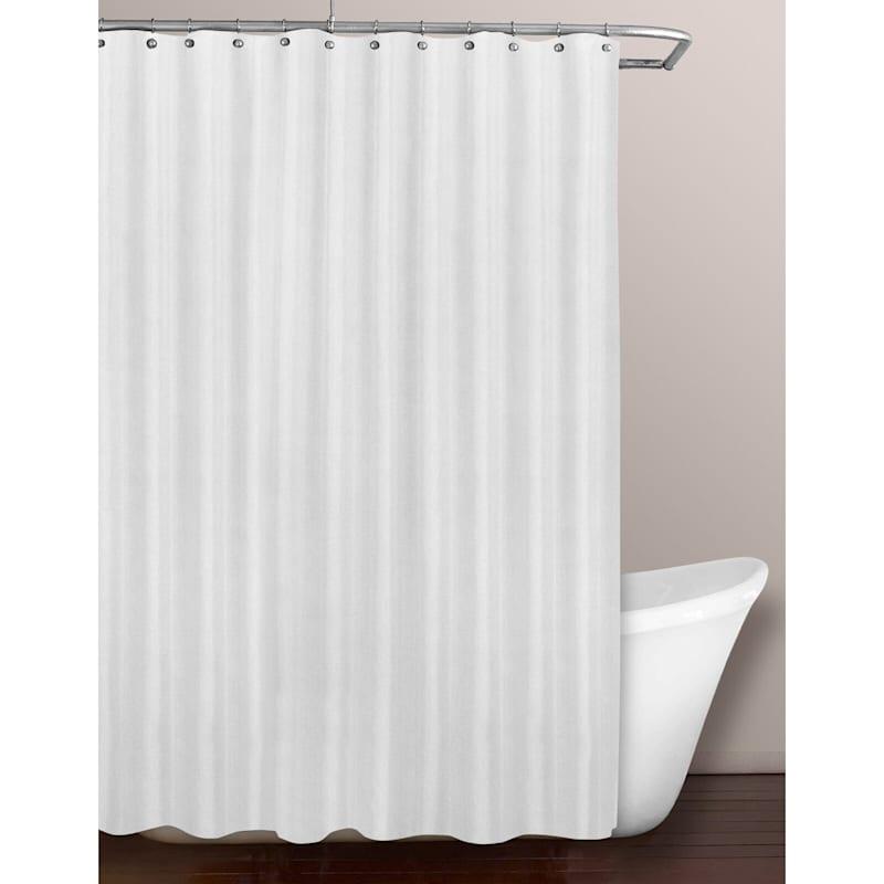 White Fabric Shower Liner Soft 70X70