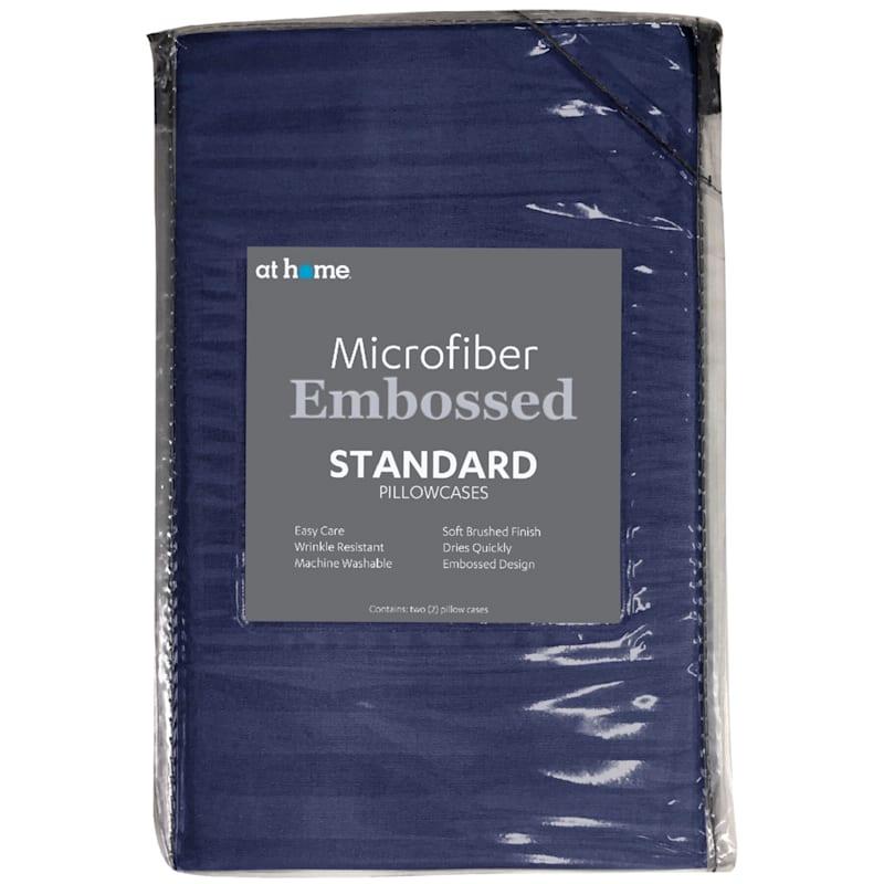 Navy Microfiber 2-Piece Pillow Case Standard 20X26
