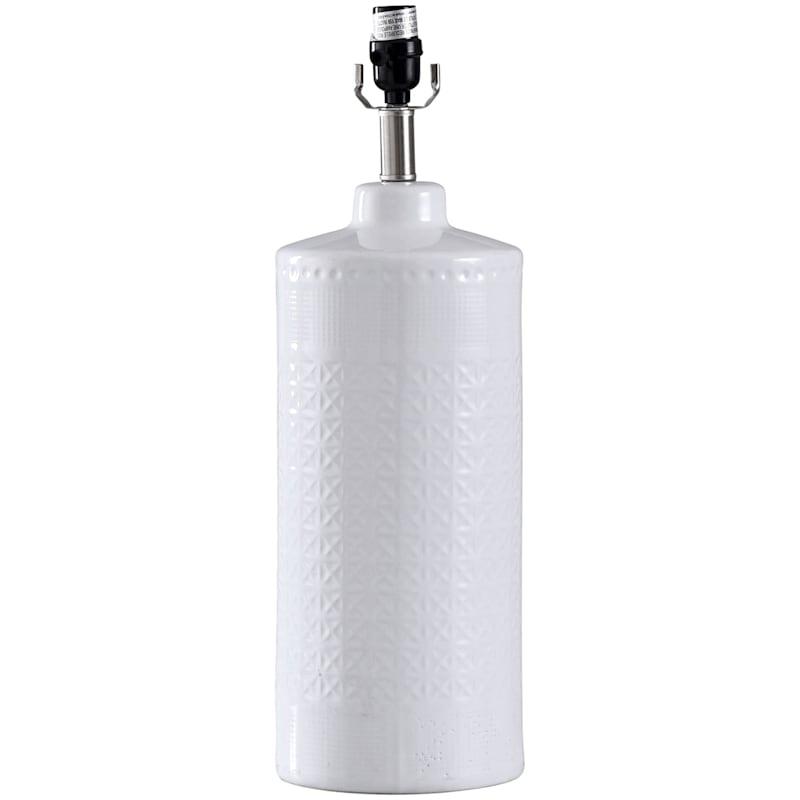 WHITE TEXTUREDCERAMIC LAMP