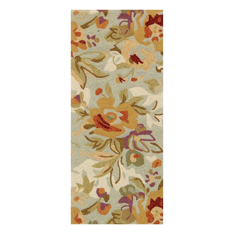 (A31) Summerton Floral Hooked Runner, 2x5