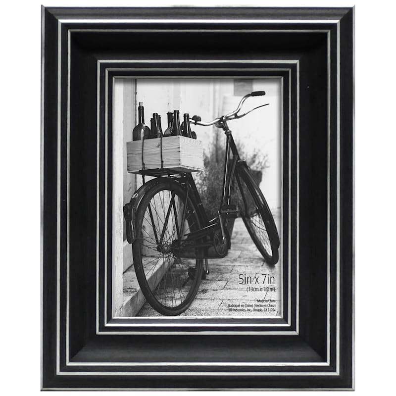 5X7 Black/Whitewash Tabletop Frame