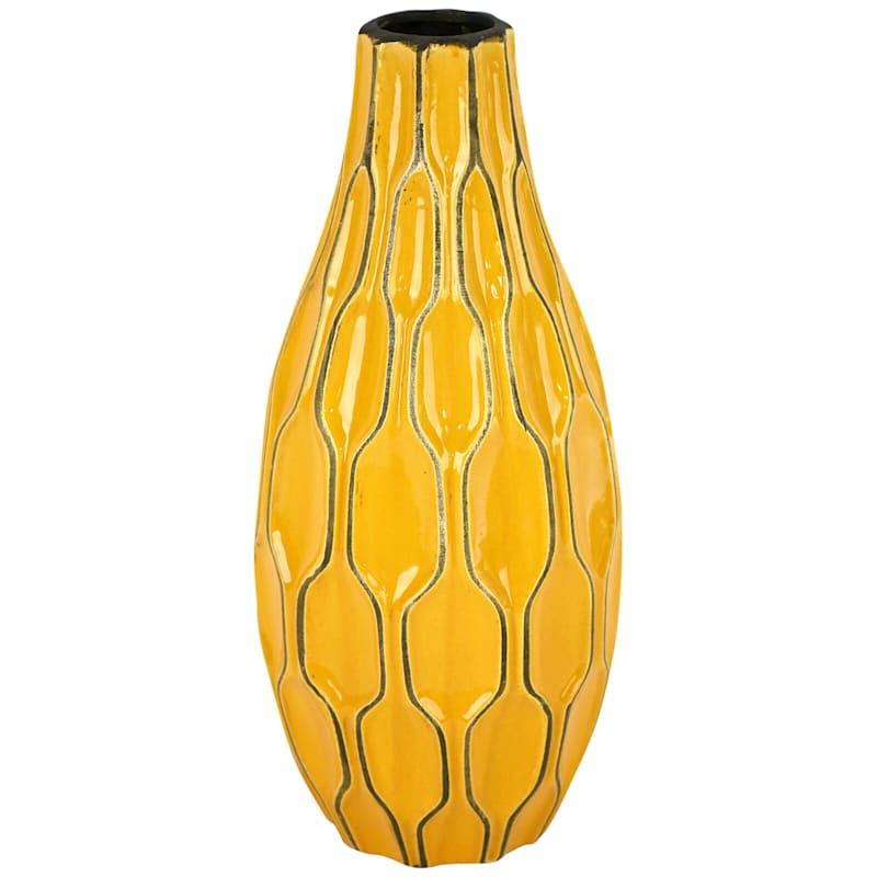 7X15 Katherine Yellow Ceramic Vase