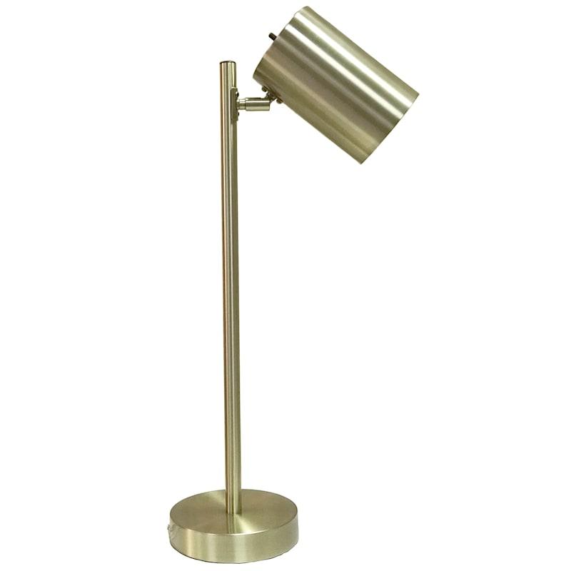 22in. Brass Metal Pole Task Lamp