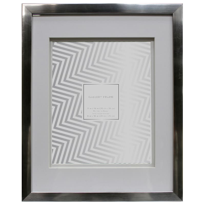 11X14 Matted To 8X10 Silver Wall Frame