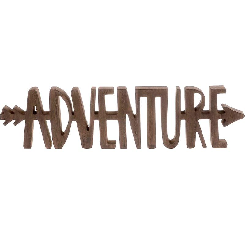16X4 Adventure Tabletop Wood Word Sign