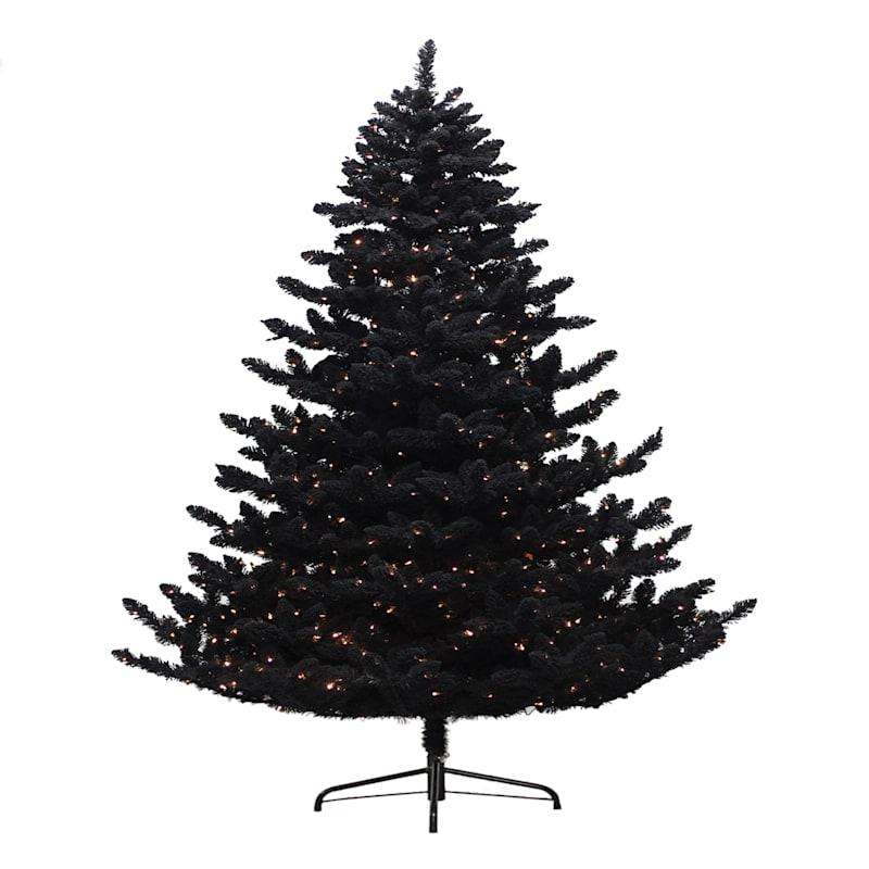 F19 Black Flocked Tree, 7.5'