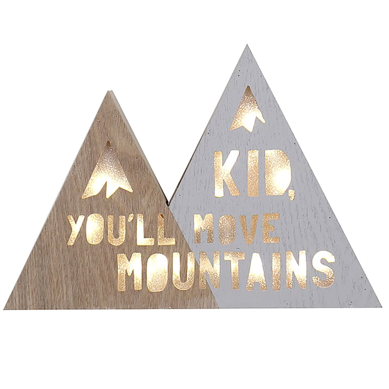 8X6 Kid Youll Move Mountains Sign