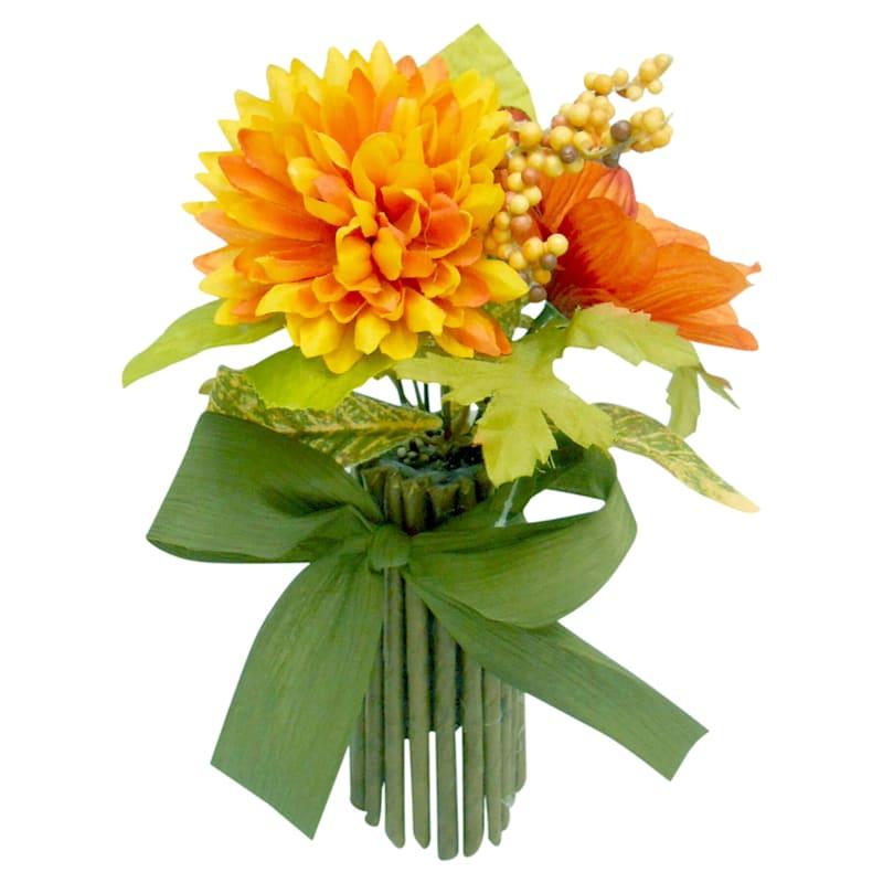 Orange Sunflower & Mum Stack