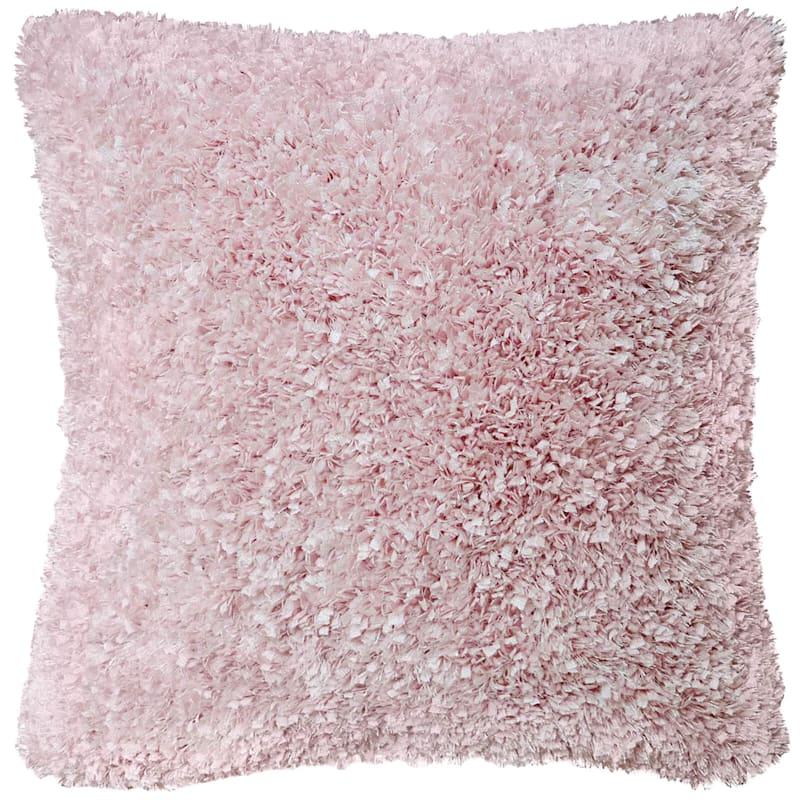 Moove Blush Shag Pillow 18X18