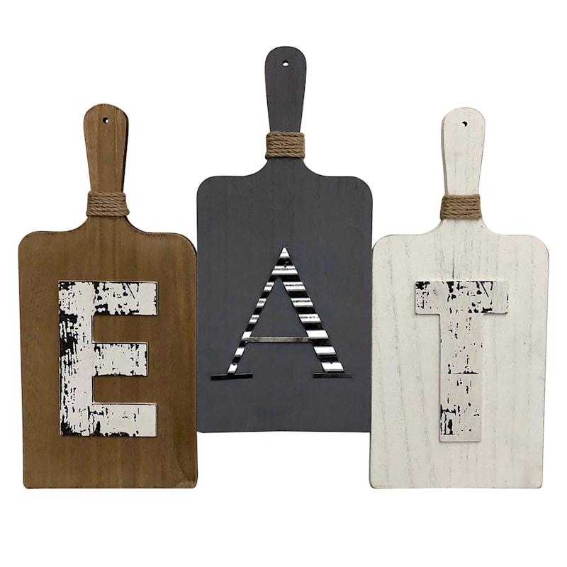 15X18 Eat 3 Serving Board Wood Wall Art