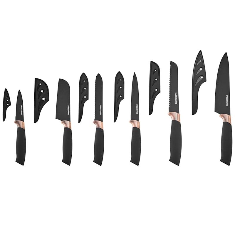 Farberware 12-Piece Black & Copper Knife Set