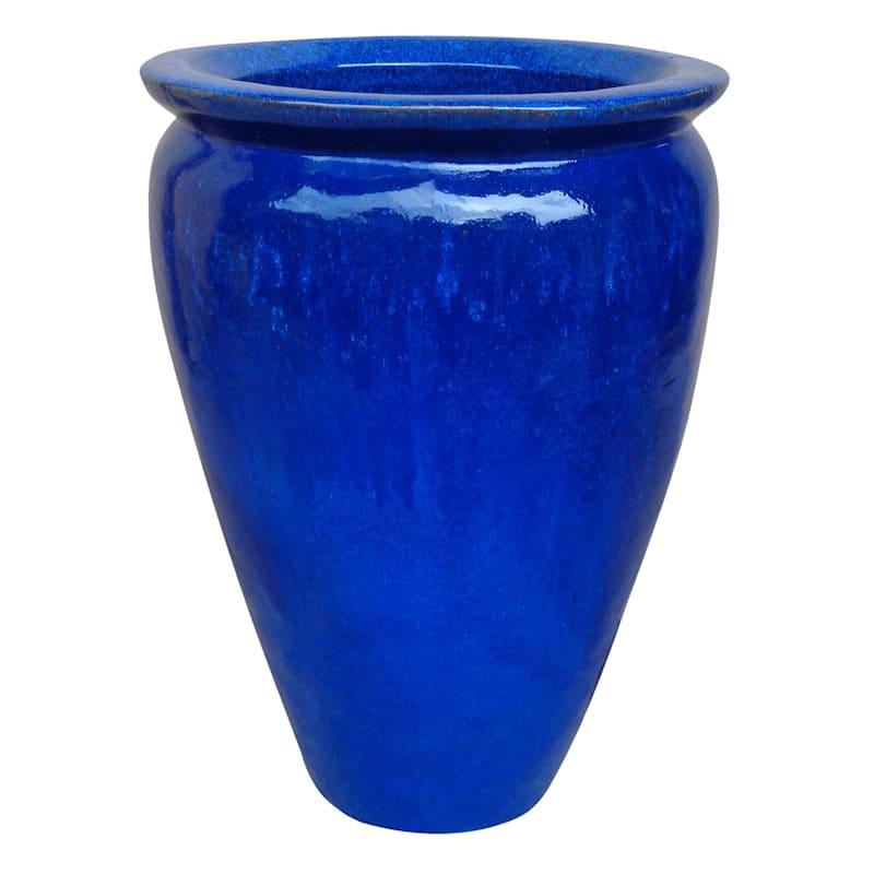 Arcadia Ceramic Planter 28.7in. Blue