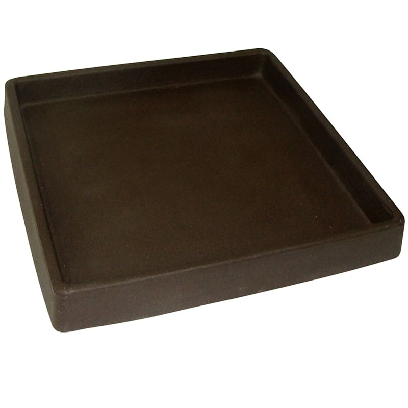 12in. All Weather Proof Polyresin Square Saucer Coffee