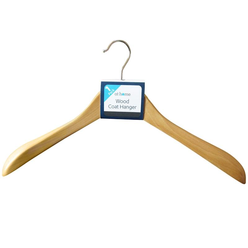 Wood Natural Coat Hanger