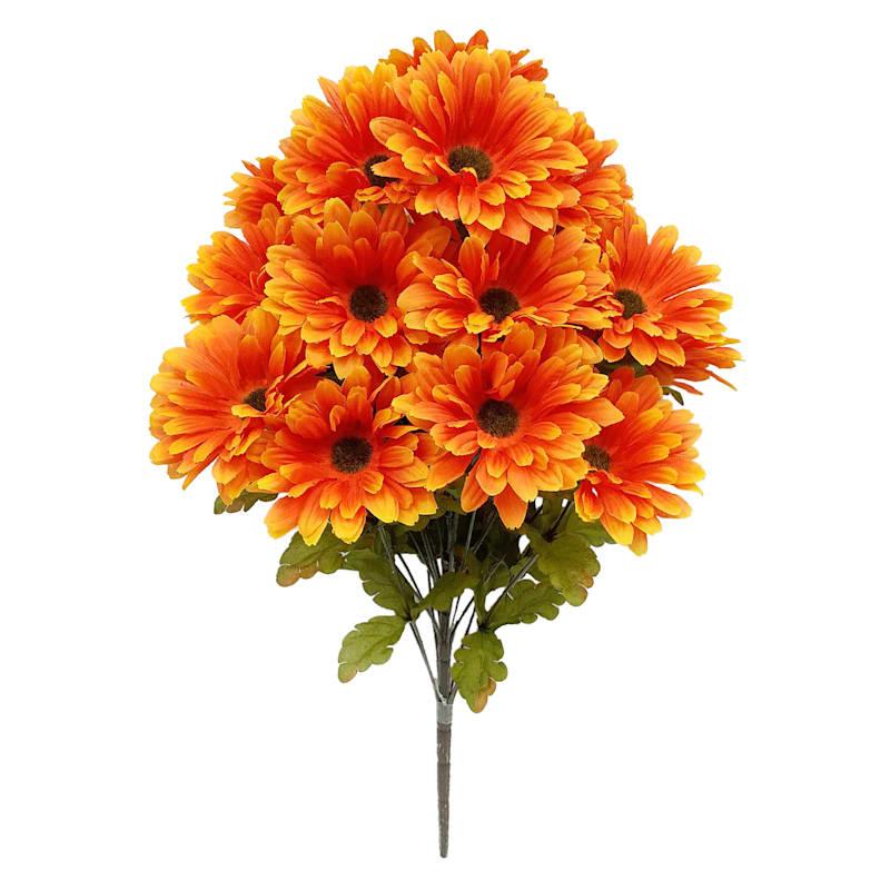"Orange Gerber Daisy Bush, 24"""