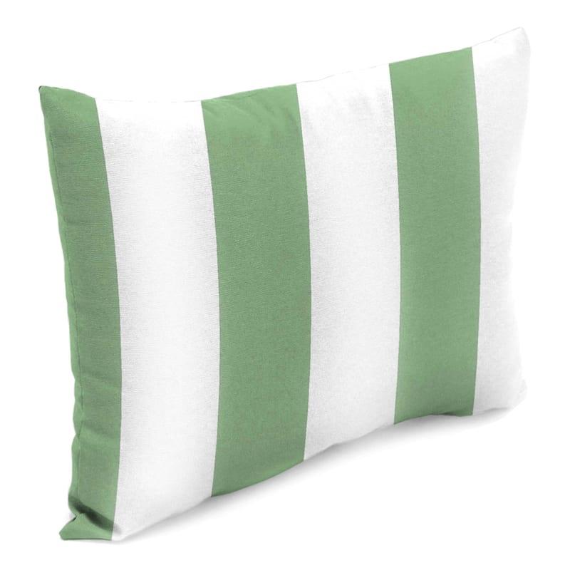 Aloe Awning Stripe Outdoor Oblong Pillow, 12x16