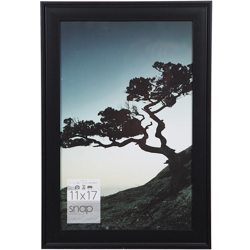 11X17 Black Scoop Profile Photo Wall Frame