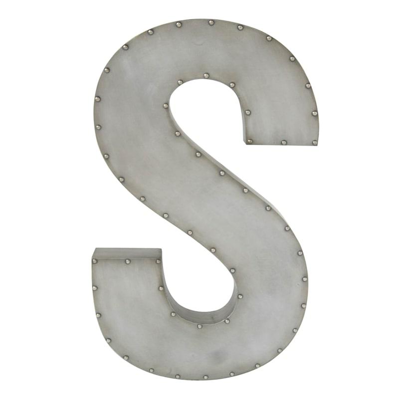 31in. Galvanized Cs Nailhead Letter