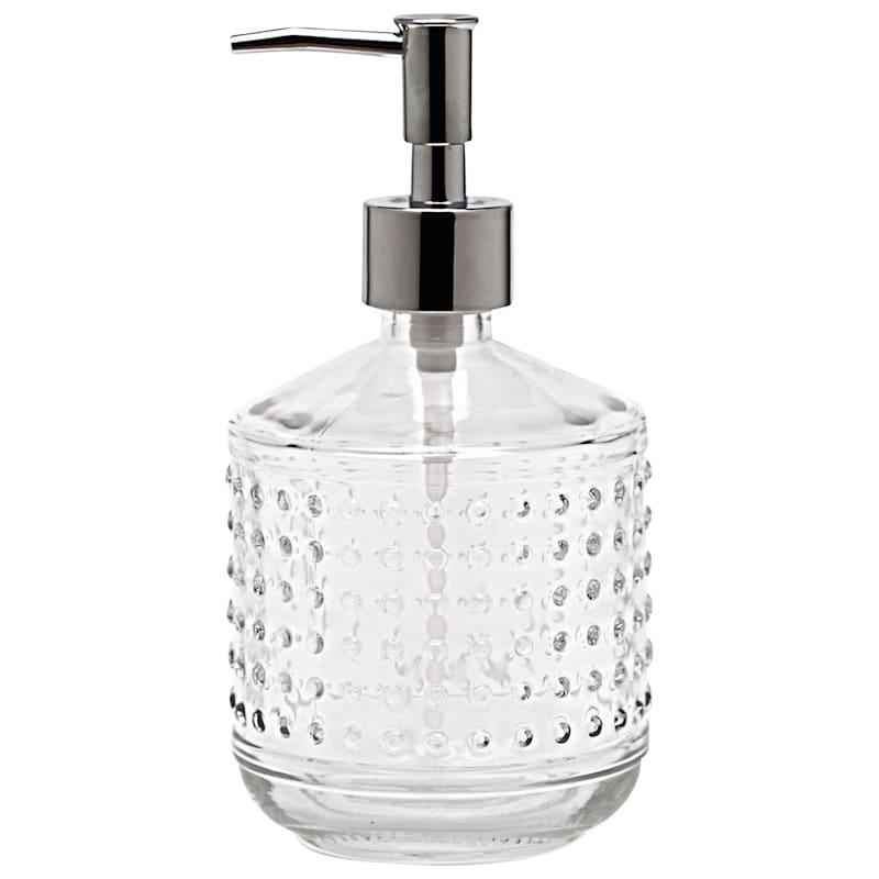 18oz Clear Hobnail Soap Pump