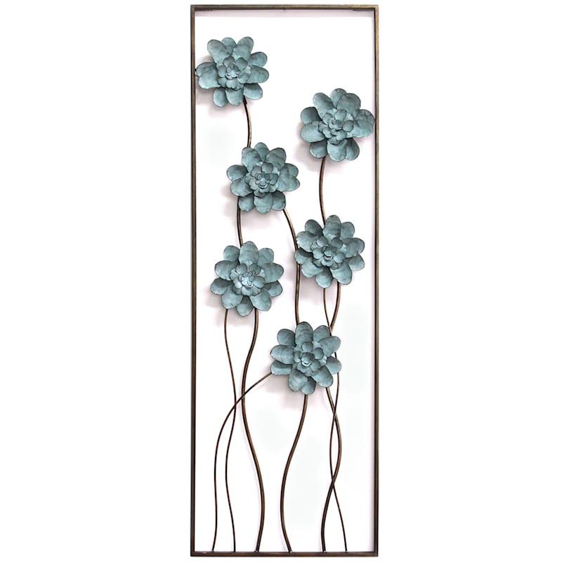 12X35 Flower Panel Wall Decor