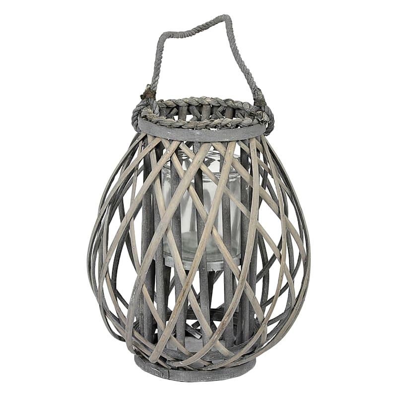 11X14 Grey Weave Lantern