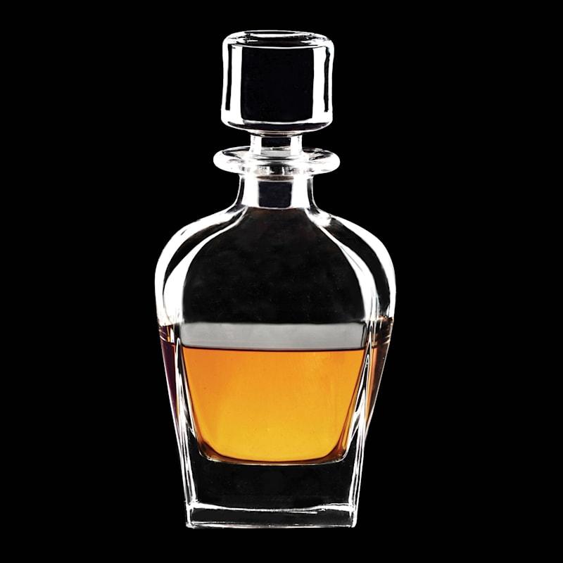 Whiskey Glass Decanter & Glass Stopper, 24oz