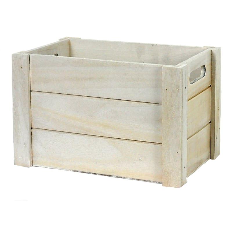 Wood White Wash Rectangle S