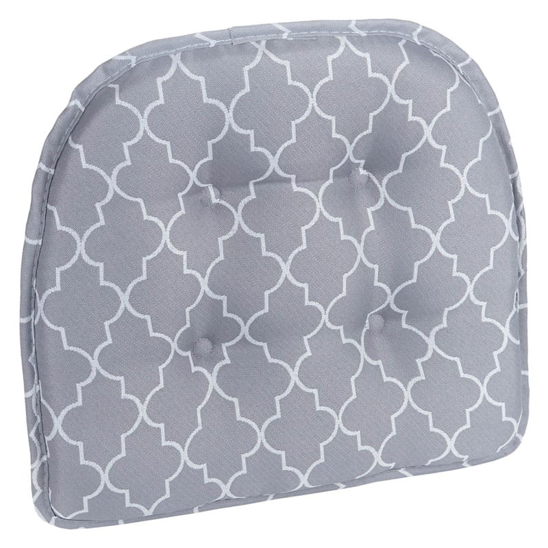 Trellis Grey Gripper Chair Pad Non Skid Material