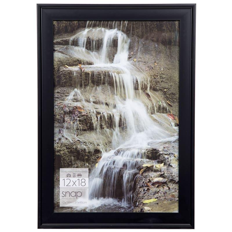 12X18 Black Scoop Profile Photo Wall Frame