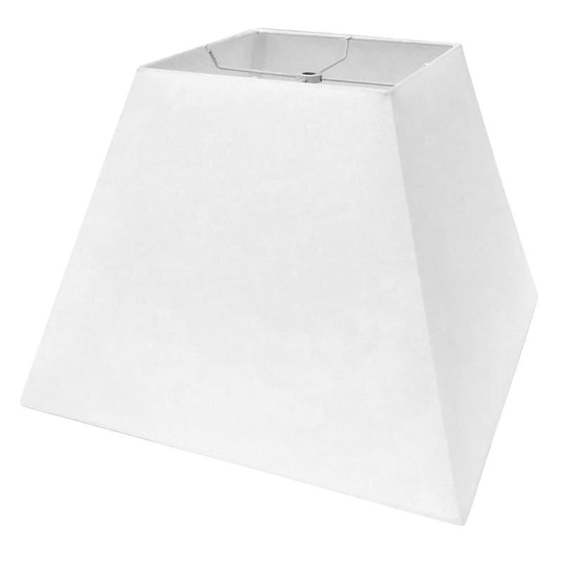 8x15x11 White Square Table Lamp Shade, Table Lamp Square Shade