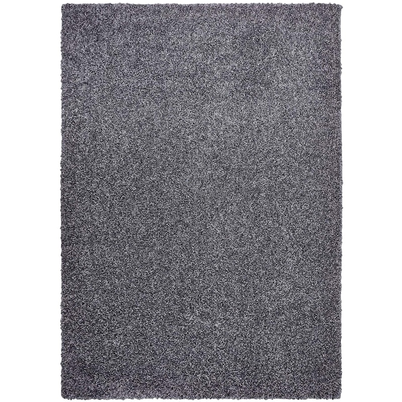 (C107) Bella Soft Tufted Shag Dark Grey Area Rug, 5x7