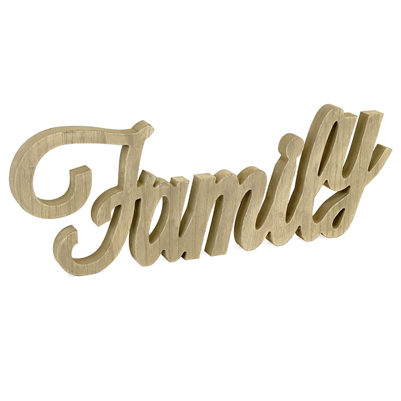 26X9 Family Tabletop Wood Word Sign