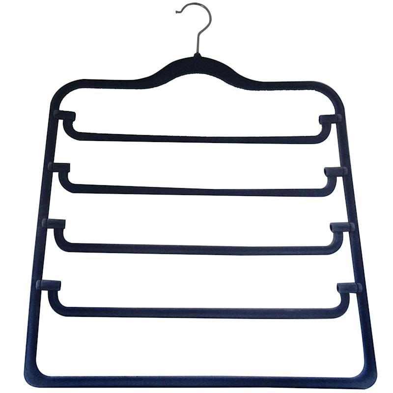Velvet 4-Tier Blue Pant Hanger
